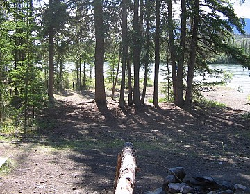 Campspot just above Big Salmon