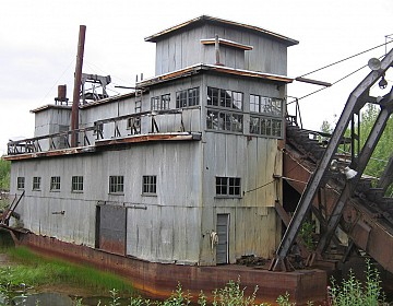 Coal Creek gold dredge Alaska