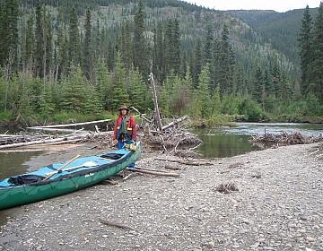 Log jams at beginning of Big Salmon